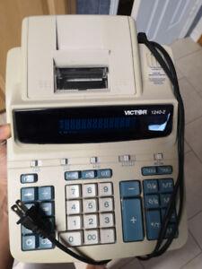 Great Condition Victor 1240-2 Adding Machine/Printing Calculator