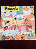 1960s Walt Disney's Pinocchio vinal 33 turn record