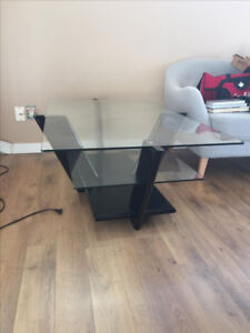 Glass 3 level coffee table