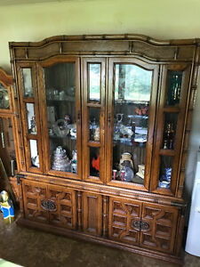 DINING TABLE + 6 CHAIRS + 2 PIECE CHINA CABINET
