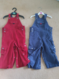 Jojo mama bebe size 18 to 24 months set of 2 cord dungarees
