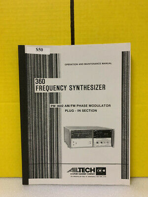Ailtech 360 Frequency Synthesizer Pm 3602 Phase Modulator Plug-ins Maintenance