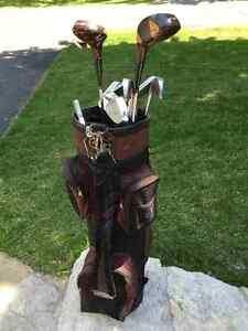 Used Faultless Golf Bag with 10 Clubs and more