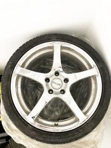 4 pneus Bridgestone Potenza avec mags