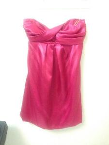 Medium Satin Pink Strapless Dress