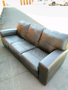 3 Seat Full Leather Couch