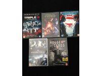 5 dvds (unopened)