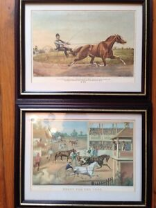 Two race horse prints