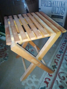 folding bench-seat-stool-table - great for camping!