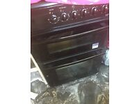 Electric oven black