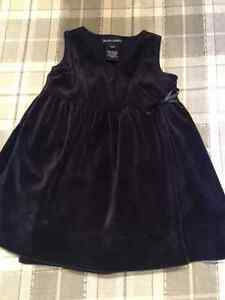 12 month Ralph Lauren navy velvet dress