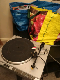 fast sale. turntable and vinyl records (about 90)