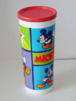 Mickey Mouse Tumbler with lid, tall - Tupperware (new)