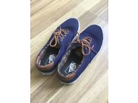 Blue and brown VANS shoes UK 7.0 EUR 40.5 CM 26.0