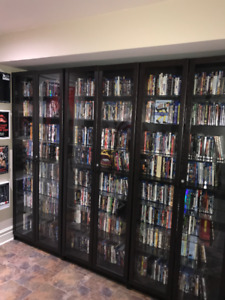 Billy Bookcase Medium Brown Color with custom lock & Glass Shelv