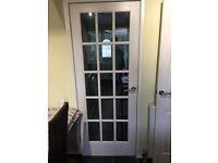 15 pane solid pine internal door.