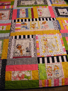 Icecream Parlor shop lap quilt
