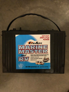Marine Battery and Charger Like NEW