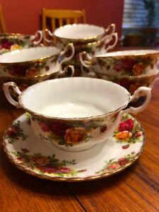Royal Albert China Old Country Roses Soup Set