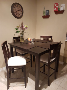 Pub-Style Kitchen Table & 4 Chairs (OBO)