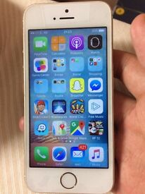 iPhone 5s 16gb UNLOCKED! White and Gold