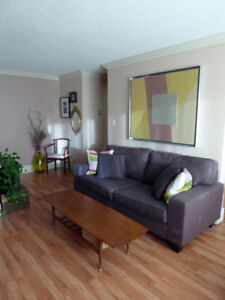 Stunning Sunlit Downtown Oliver Condo, Furnished with Art