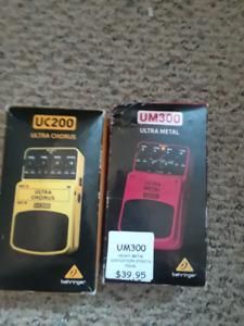 Behringer UM300 (Distortion) and UC200 (Chorus)
