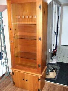 Knotty Pine Cabinet - Lockable-
