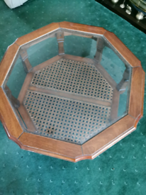Used wooden octagon table