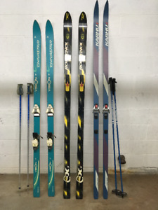 Vintage Downhill and XC Skis