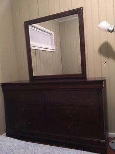 Solid Wood Dresser Mirror EUC