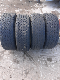 2 sets of 245/70/17 tyres