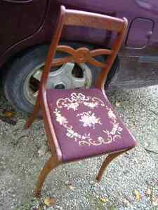 OLD NEEDLEPOINT SEWING TABLE CHAIR Sarnia Sarnia Area image 1