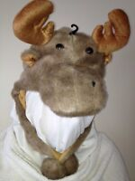 Winter Moose Fun Hat New