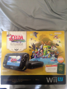 wii u wind waker edition 32GB with 16 games