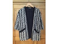 Urban outfitters knitted print kimono jacket