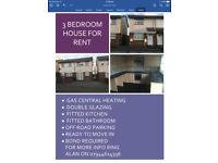 3 BEDROOM HOUSE FOR RENT THORNLEY DURHAM