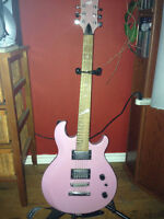 light purple, vega electric guitar.  comes with soft case.