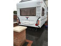Klaus 4 berth fixed bed awning 2007 light weight German built van
