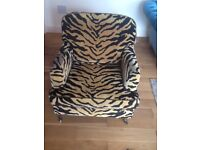 BARKER & STONEHOUSE ANIMAL PRINT CHAIR