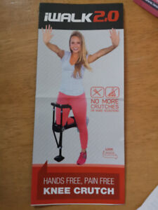 Knee crutch for injured feet/ankles.