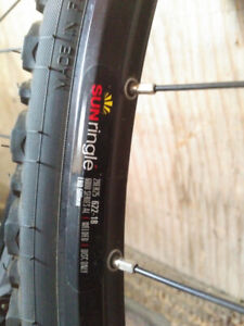 700's bike wheels, summer AND winter tires!