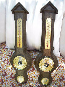 Pair of Vintage Fisher Barometers Made in France.