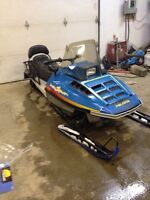 1989 polaris indy sport gt 340 cc long track 2 up seat