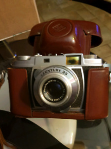 Graflex Century 35 Antique Camera With Leather Case