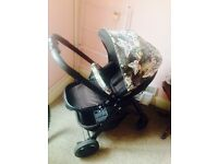 Graco Evo pushchair with personalised hood and bumper bar