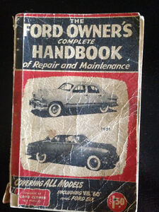 1951 FORD OWNERS HANDBOOK