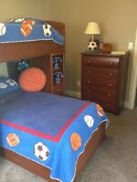 Solid twin bunk bed and more....