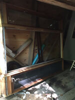 Solid Wood Door Frame with 2 side windows