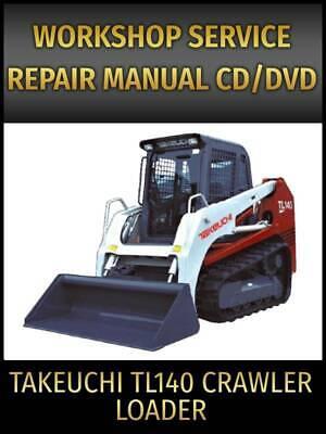 Takeuchi Tl140 Crawler Loader Service Repair Manual On Cd